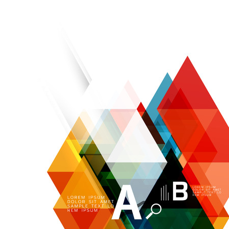 Abstract triangles and lines vector Stock Photo