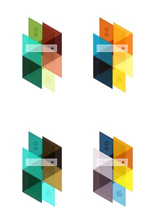 advertising column: Vector set of blank geometric infographic web boxes Illustration