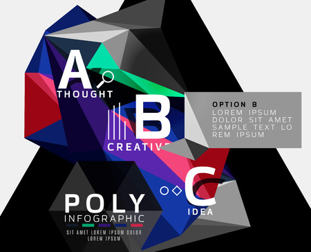 Abstract polygonal infographics