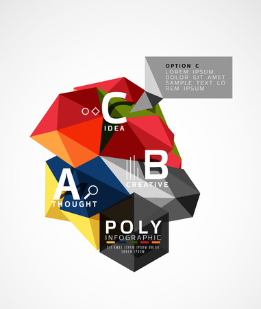advertising wobbler: Abstract polygonal infographics