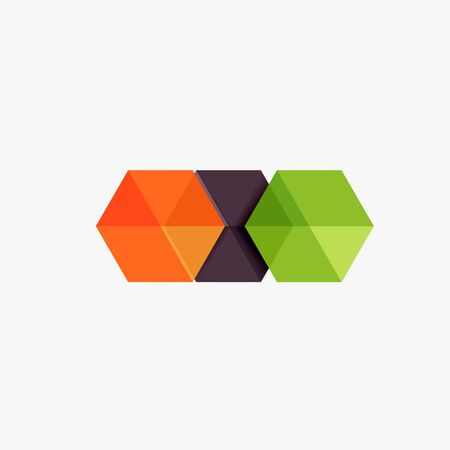 Blank geometric abstract business templates, hexagon layouts