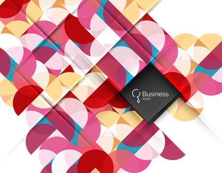 Vector abstract geometric composition Stock Photo