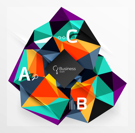 splinter: Polygonal triangle abstract background with infographics