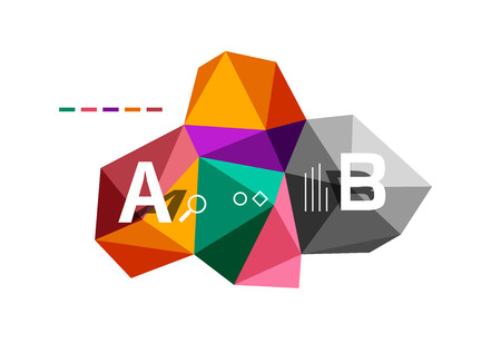 Abstract low poly infographics template