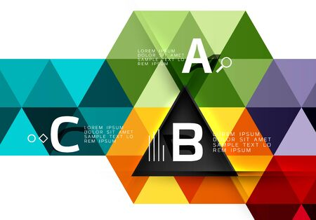 Vector infographic triangles