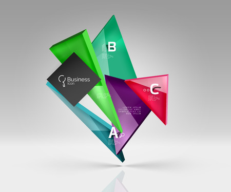 Triangle layout business template, infographic background