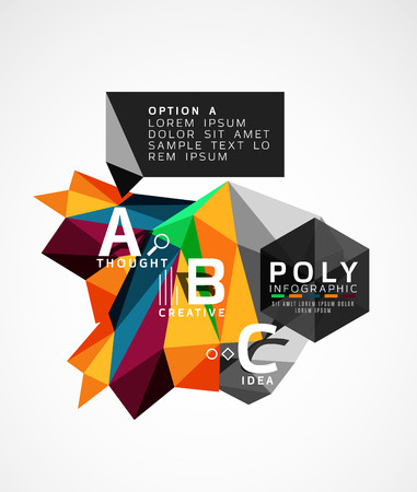 Abstract triangle option infographic template