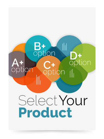 abcd: Business cover brochure design with select option diagram Illustration