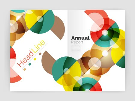Abstract circles, annual report covers