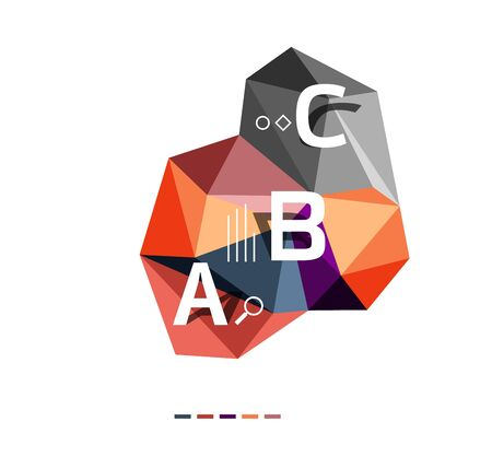 Abstract triangle low poly infographic template. Vector background for workflow layout, diagram, number options or web design