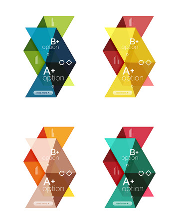 Set of color abstract arrow option infographic templates. Vector backgrounds for workflow layout, diagram, number options or web design