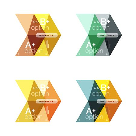 Vector arrow option infographic templates set Illustration