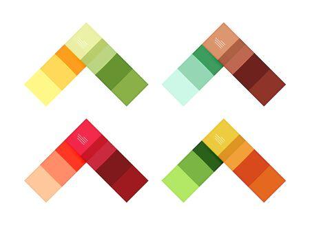 Colorful stripes infographic templates set Illustration