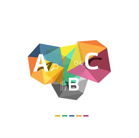 b: ABC infographics vector