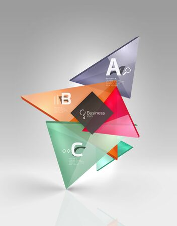 Vector 3d triangle abstract background