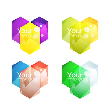 Vector shiny blank web option boxes