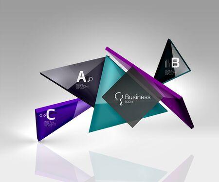 3d triangle modern composition Illustration
