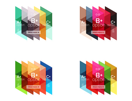 Set of vector triangle geometric infographic Illustration