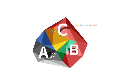 ABC infographics vector