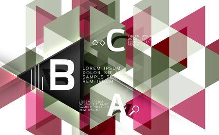 Vector geometric shape background Illustration