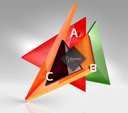 out of shape: 3d triangle modern composition Illustration