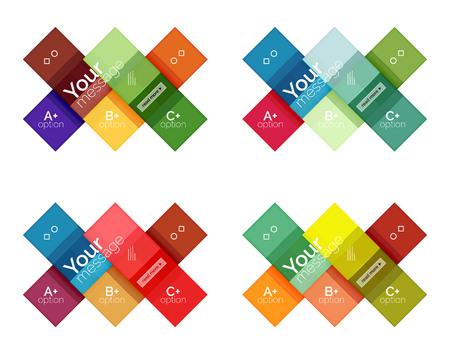 solid figure: vettore colore strisce infografica modelli