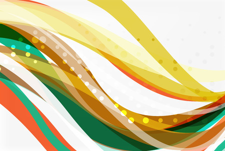 Colorful wave abstract background