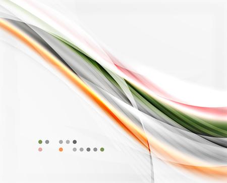 glossiness: Modern hi-tech glossy glass wave