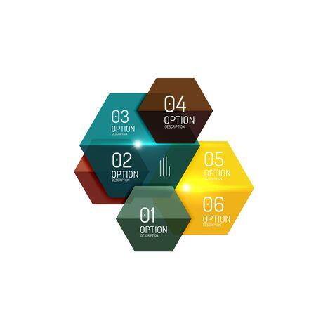 Infographic modern templates - geometric shapes Vettoriali