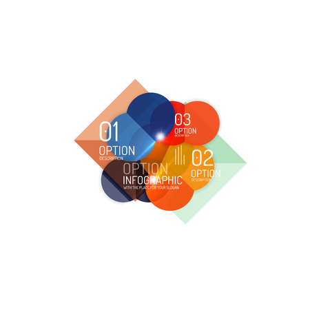 abstract: Abstract vector business geometric infographics Illustration