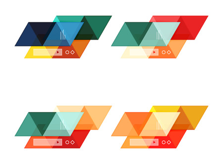 pillar box: Vector set of blank geometric infographic web boxes Illustration