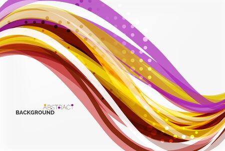 Colorful wave abstract background. Vector template background for workflow layout, diagram, number options or web design