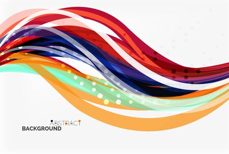squiggle: Flowing abstract background. Vector template background for workflow layout, diagram, number options or web design