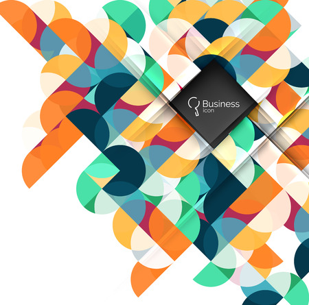 Circles vector abstract background