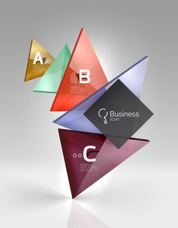 karkas: Vector 3d driehoek abstracte achtergrond