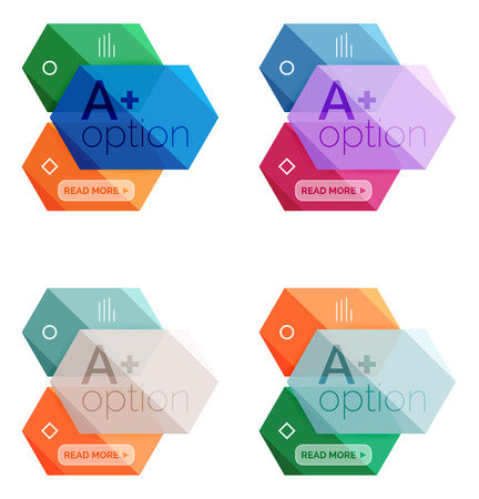 Set of vector abstract infographics content boxes Illustration