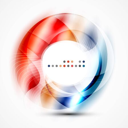 Colorful abstract circle banner