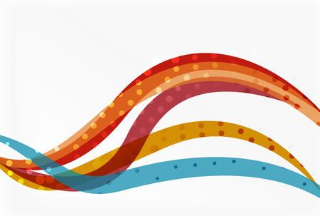 Vector dotted curve waves Illustration