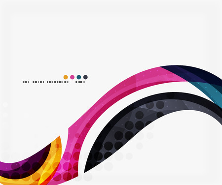 Colorful elegant flowing wave