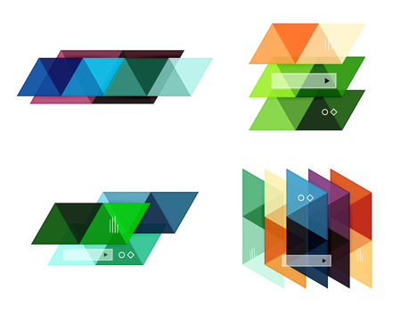 backgrounds: Blank triangle infographic backgrounds Illustration