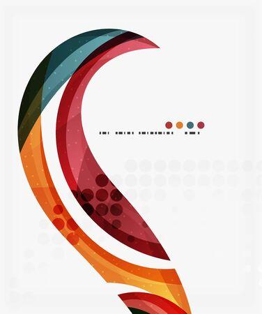 Business corporate wave background, flyer, brochure design template Illustration