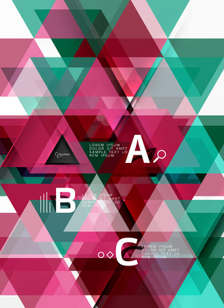 Vector geometric shape background Illustration