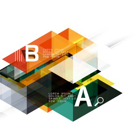 Abstract triangles and lines vector Illustration