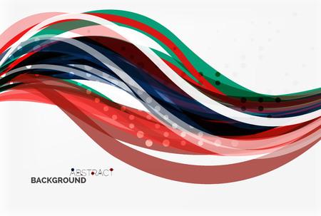 sinergia: la onda colorida elegante, rayas