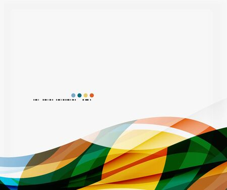 Colorful geometric wave abstract background Illustration