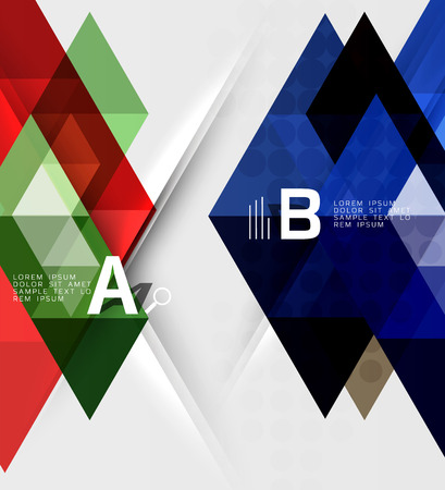 Futuristic triangle tile background with options Illustration