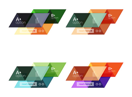 special education: Set of vector triangle geometric infographic Illustration
