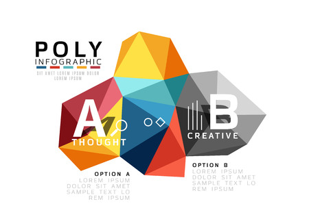 Moden low poly infographics template Illustration