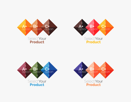 Set of square abstract background templates or infographics