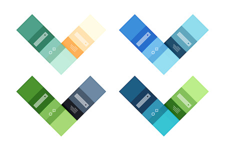 Abstract geometric line infographic templates Illustration